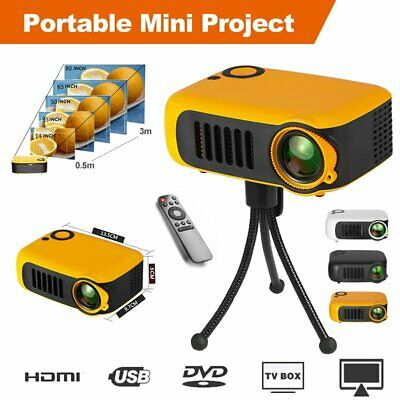 AU89.99 • Buy Mini Portable Pocket Projector HD 1080P Movie Video Projectors Home Theater HDMI