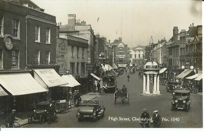 £12 • Buy Essex, Chelmsford High Street With Shops, Photo Postcard