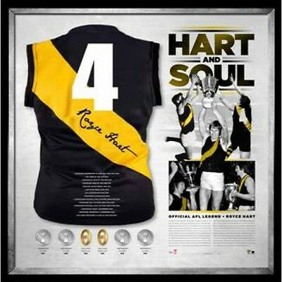 AU995 • Buy Royce Hart Richmond Hart And Soul Hand Signed Framed Jumper Tigers Afl Martin