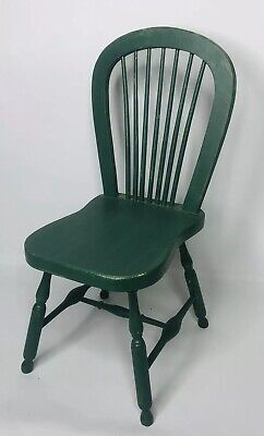 $14.99 • Buy Green Wooden Spindle Back Doll Teddy Bear Chair 14.5  Tall