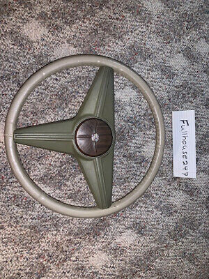 1974 1975 1976 cadillac eldorado deville steering wheel ivory gold/light  green • 95 00$
