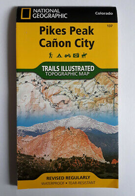 National Geographic Pikes Peak & Canon City (Colorado) Waterproof Map - No. 137 • 8£