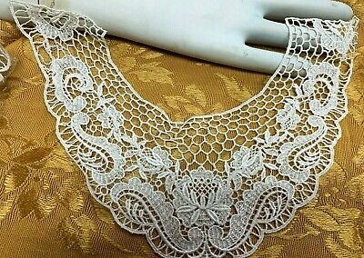 Vintage Lace Collar Rayon Cotton Dyeable 1 Piece Made In USA #2003RC • 11.31£