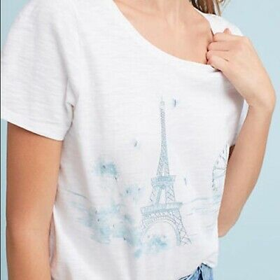 $ CDN56.29 • Buy Anthropologie Embroidered Graphic Tee Size XL