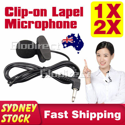 AU8.95 • Buy Lapel Lavalier Microphone Clip-on Mic Mini 3.5mm For Mobile IPhone PC Recording