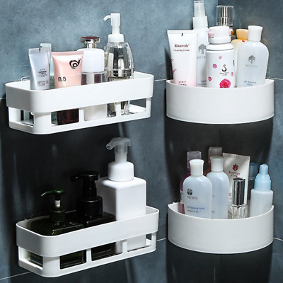 AU18.95 • Buy 2PK Shower Caddy Corner Storage Shelf Holder Rack Organiser Bathroom Adhesive