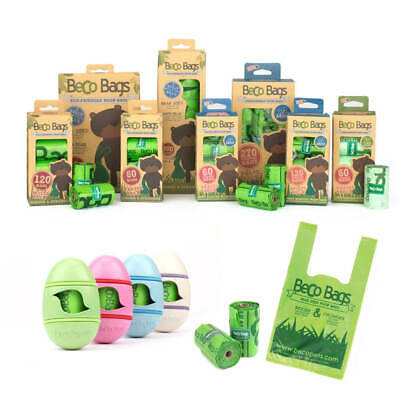 £10.99 • Buy Beco Biodegradable Dog Poo Bags Strong Dog Waste Bags - Unscented & Mint Scented