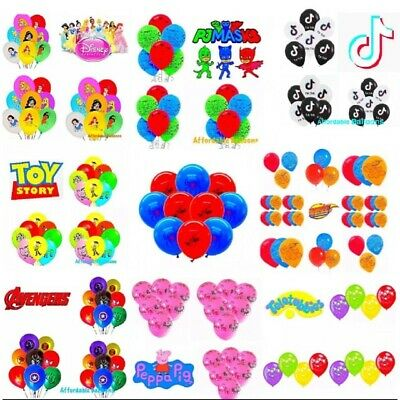 Children's Party Latex Balloons. Children's Party Decorations. Packs Of 5 & 10's • 2.59£