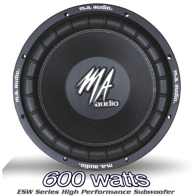 $82.84 • Buy MA AUDIO 12  Inch 600w Car Audio Subwoofer Driver Bass SubWoofer New Heavy Duty!