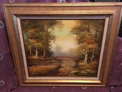 $ CDN211.63 • Buy Vintage Landscape Oil Painting By Listed Artist Phillip Cantrell