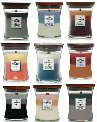 $22.55 • Buy WoodWick Trilogy Medium 9.7 Oz Scented Jar Candle ~ Select Your Favorite(s)