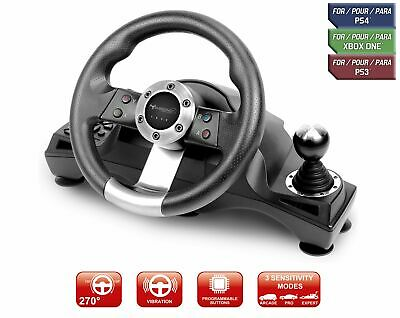 Racing Steering Wheel Shifter Pedal Set For Playstation 4 PS4 Pro Xbox One S PS3 • 704.96$
