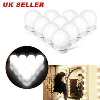 10X Vanity Mirror Lights Dimmable LED Makeup Lights For Makeup Dressing Table UK • 9.99£
