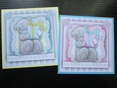NEW ==== 2 X TATTY TEDDY BIRTHDAY SURPRISE Card Making Toppers & Sentiments • 1.10£