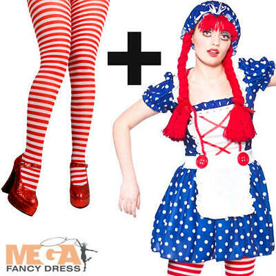 £12.99 • Buy Cute Rag Doll + Tights Ladies Fancy Dress Dolly Womens Book Adults Costume New