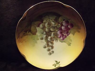 $20 • Buy Antique 7 5/8  Gilt Edge J&C Louise Bavaria Grapes Plate Signed A.Koch