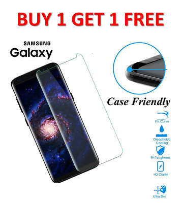 $ CDN9.37 • Buy For Samsung Galaxy S7 EDGE Tempered Glass Screen Protector Case Friendly CLEAR