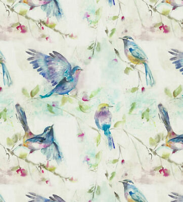 Spring Flight Birds 100% Cotton Fabric Voyage Curtains Cushions Crafts • 19.99£