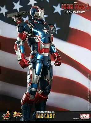 AU602.53 • Buy Hot Toys IRON MAN 3 Iron PATRIOT 1/6th Scale Diecast Figure In USA NRFB