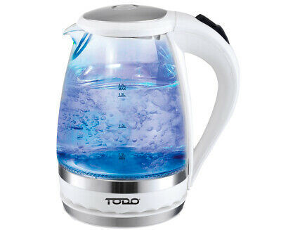 AU29 • Buy TODO 1.5L Glass Cordless Kettle Electric Blue Led Light 360 Clear Jug White