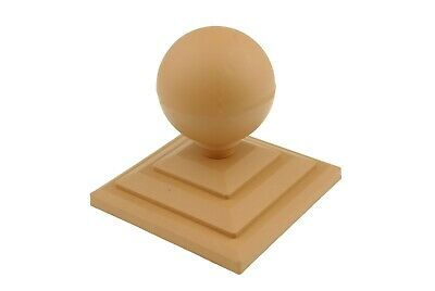 £6 • Buy Linic 2x Harvest Gold Sphere Fence Top Finial + 3  Fence Post Cap UK Made GT0026