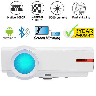 AU459.99 • Buy 1080P Native 4K Max Bluetooth Android WiFI Projector Wireless LED Projector HDMI