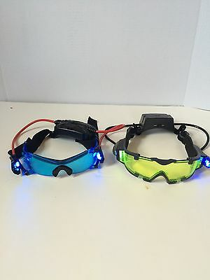 Wild Planet Spy Gear SVG Night Vision Glasses Goggles Light Up Blue  Green Lot • 25.33£