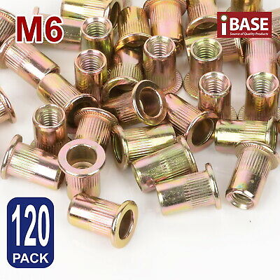 AU9.99 • Buy 120x Rivet Nut Nuts M6 Flange Blind Nutserts Zinc Plated Steel Rivnut Nutsert
