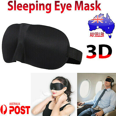 AU4.26 • Buy 3D Sleeping Eye Mask Blindfold Sleep Travel Relax Cover & Ear Plug Noise Stopper