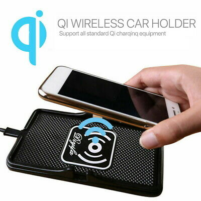 AU18.10 • Buy Qi Wireless Charger Car Phone Holder Mount Non-Slip Pad Mat For IPhone XS MAX XR