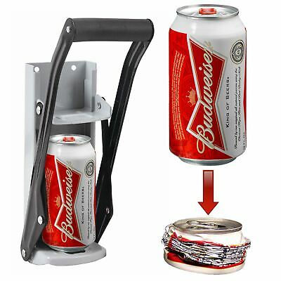 16oz 500ml Tin Can Crusher Wall Mounted Large Beer Bottle Opener Recycling Tool • 7.83£