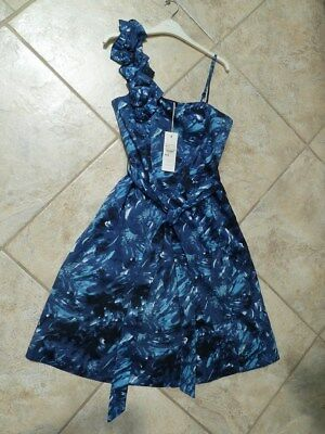 Ladies Rocha John Rocha Floral Blue summer Dress Evening New Size 12  • 19.99£