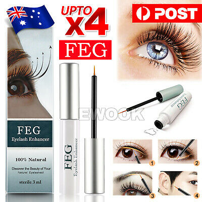 AU8.95 • Buy Genuine For FEG Natural Eyelash Enhancer Serum Eyelash Grow Booster Eyebrow Lash