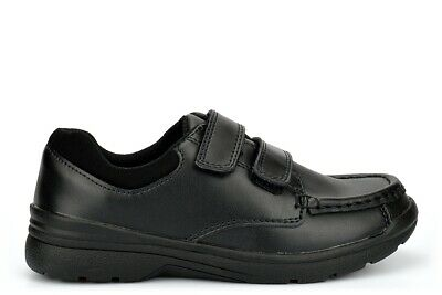 £12.96 • Buy Boys Touch Fastening School Shoes Boys Coated Leather School Shoes Size