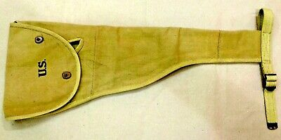 $35 • Buy WWII WW2 US M1A1 Carbine Canvas Padded Jump Case Holster - REPRODUCTION