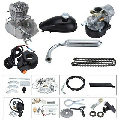 $ CDN263.63 • Buy Updated Silver 2 Stroke 80cc Motor Engine Kits For Bicycle Bike Motorized DIY