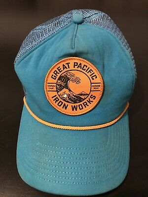 1160778451a9f0 Patagonia Great Pacific Iron Works Trucker Hat Cap Rare Design • 24.99$