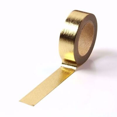 AU5.50 • Buy Washi Tape Light Gold Metallic Foil Solid Colour Gilded 15mm X 10m