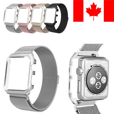 $ CDN14.99 • Buy Case With Milanese Loop Replacement Band For Apple Watch (series 1 2 3 4 5)