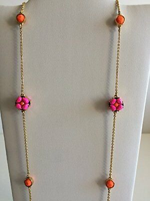 AU61.30 • Buy NWT Kate Spade O0RU1001 Plated Chain Linked Scatter Necklace