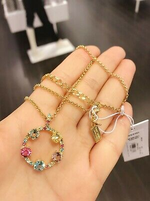 AU48.98 • Buy NWT Kate Spade O0ru1787 Carnival Crystal Necklace Multi