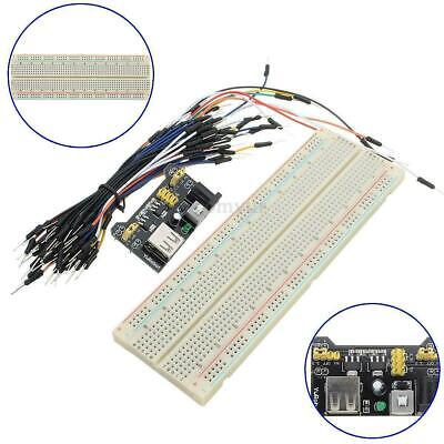 £8.50 • Buy Solderless Prototype PCB Breadboard With 65pcs Jumper Leads Wires + POWER MODULE