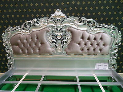 BESPOKE Super King Size 6' Upholstered Mahogany Shabby Chic French Rococo Bed  • 1,199£