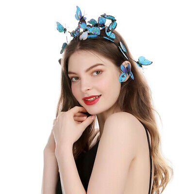 $ CDN5.89 • Buy 3D Women's Bridal Butterfly Headband Hairband Costume Hair Accessories Wedding