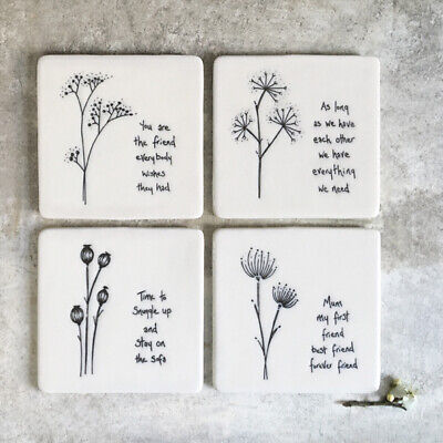 £5.50 • Buy East Of India Porcelain Heart Coasters - Many Designs - Sold For Hospice