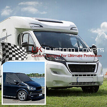 Peugeot Boxer Motorhome 2006+ Windscreen Screen Frost Wrap Cover 373 Black • 39.95£