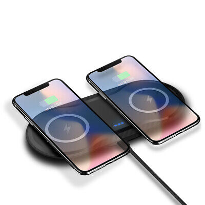 AU17.99 • Buy AU Qi Wireless Charger Dual Phone Charging Mat Pad For IPhone XS XR Samsung S10+