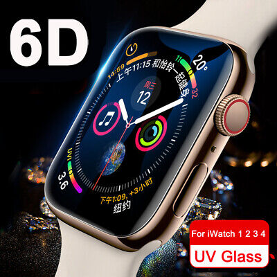 $ CDN4.56 • Buy Full Cover UV Tempered Glass Screen Protector For Apple Watch Series 4 3 2 40/44