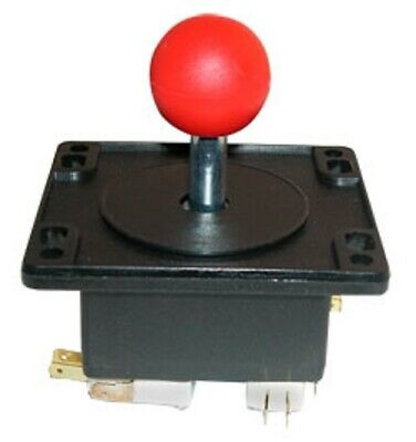 $12.94 • Buy HAPP 4 Way Red Ball Arcade Game Joystick Ball Ms PacMan Galaga Multicade Reunion