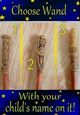 Handmade Harry Potter Wand CHOOSE Wand Style Will Personalise Magic Cosplay  • 7.99£